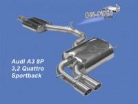 Εξάτμιση Audi A3 3.2 Quattro Τype 8P